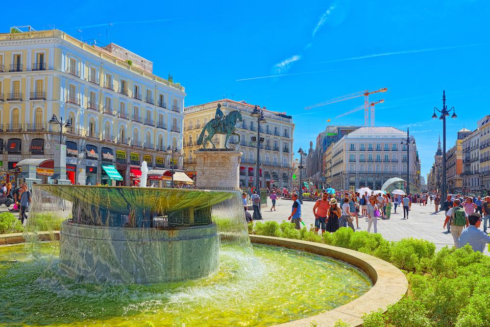 Пуэрта дель Соль в Мадриде