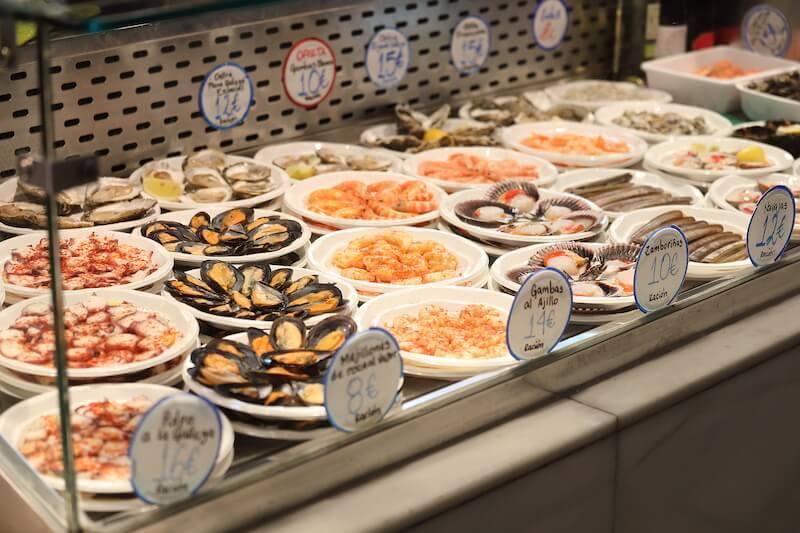 морепродукты из мадрида